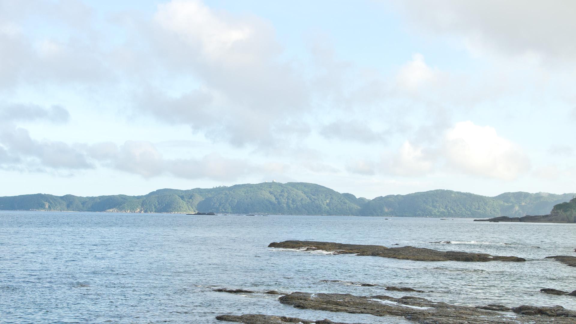 紀伊田辺付近の海岸線