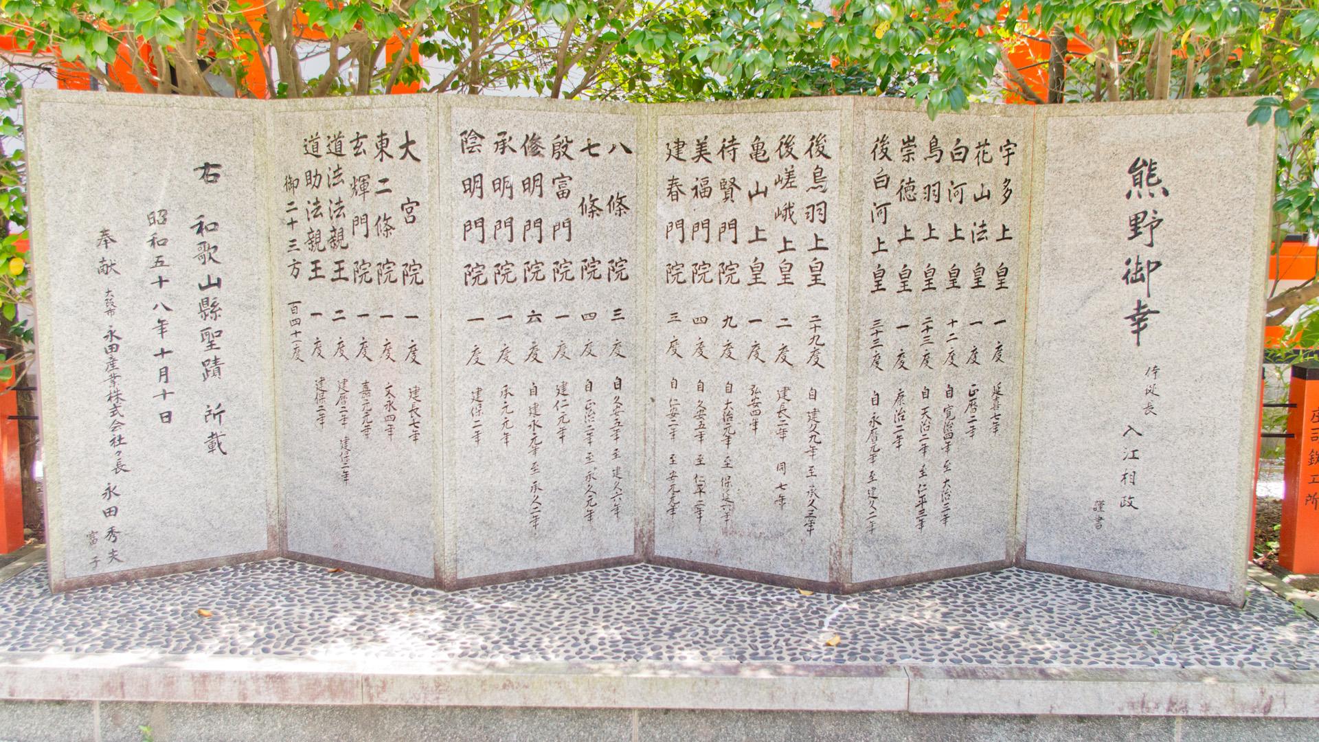 熊野御幸の石碑