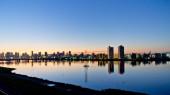 淀川の朝焼け